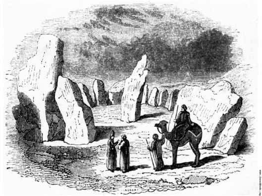 Stone circle at Darab, Persia, just like the one at Avebury (Abiri) England.